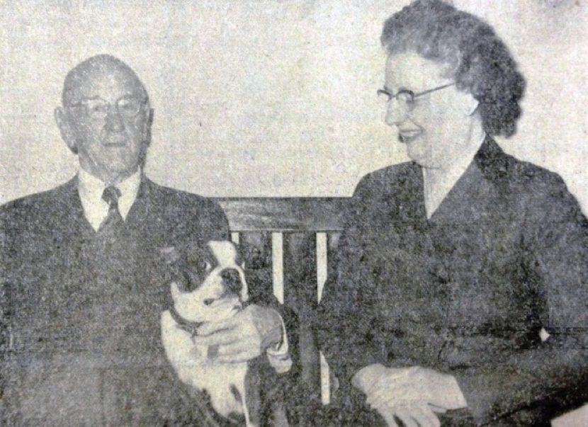 Dr. Coggins and his second wife. Source: Laurel News Leader.