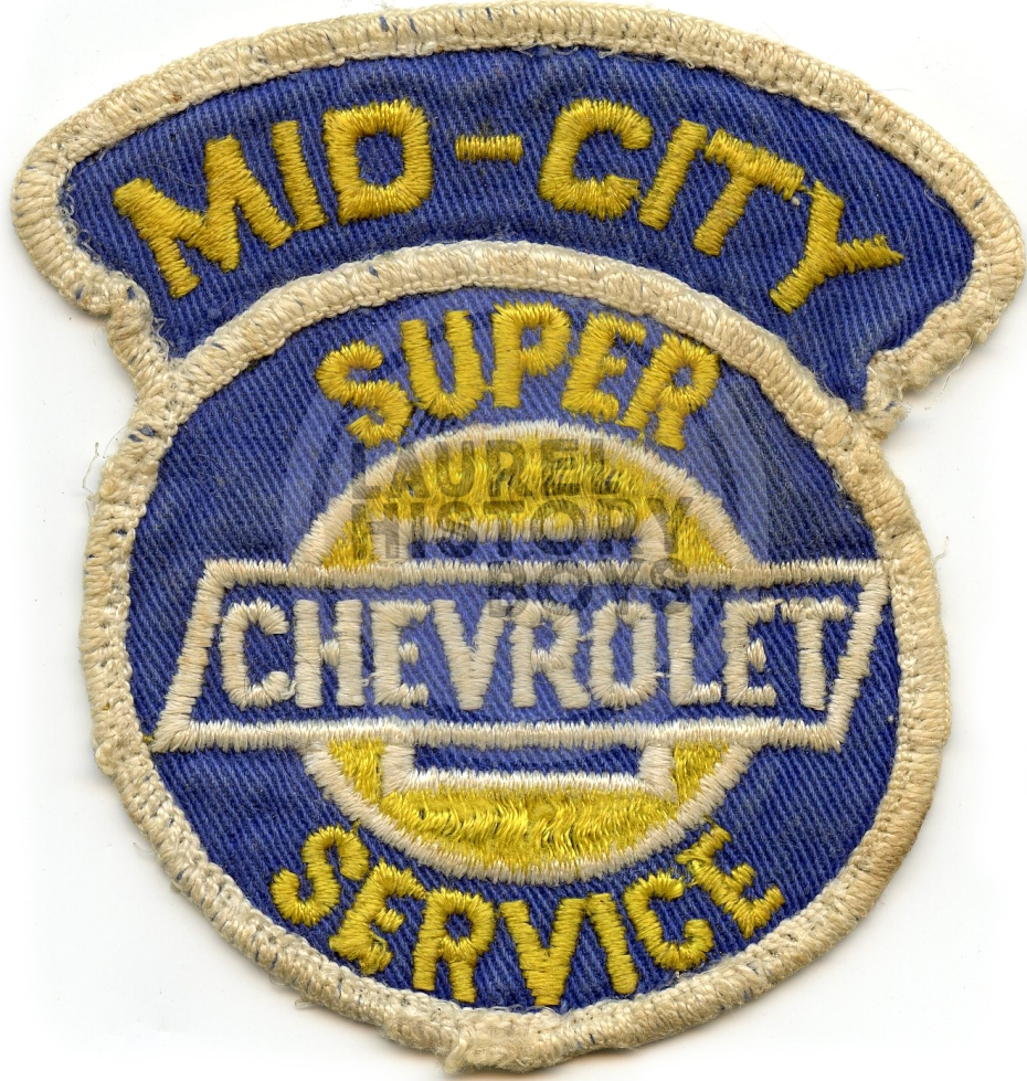 A mechanic's uniform patch, circa 1970s.