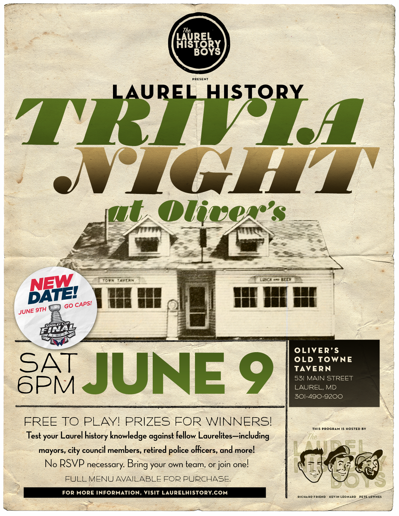 TRIVIA NIGHT-OLIVERS-JUNE9